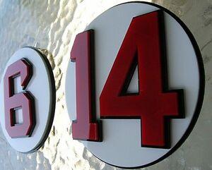 RED SOX 3D full set of 11 Retired number signs baseball FENWAY BOSTON Celtics