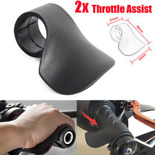2pcs Motorcycle Cruise Throttle Assist Wrist Control Cramp Saver Buster Black