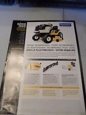 Original 1997 CUB CADET series 1000 Lawn Tractor Dealers Sales French Brochure