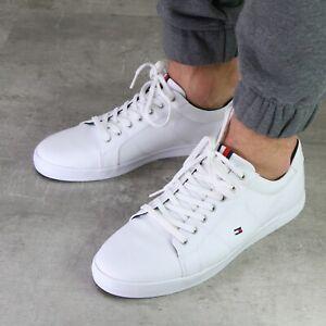 Tommy Hilfiger Iconic Sneaker Freizeitschuhe Schuhe Herren Weiß FM0FM01536 0K4