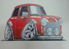 Cartoon Mini Cooper A3 Poster Print Picture Image