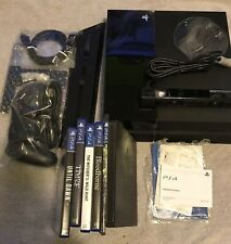 Black PS4  With 1 Controller And Camera,Cables,Cords, Stand, 6 PS4 Games