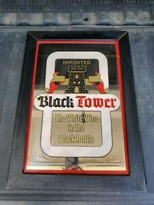 Black Tower White Wine in Black Bottle Bar Beer Advertising Mirror