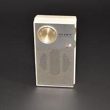 SONY 6 Transistor Vintage Personal RADIO w/Leather Case Headphone Jack 60s Japan