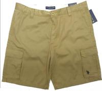 US Polo Assn Men Cargo Shorts Flat Front Cotton W36