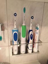 Zahnbürstenhalter für bis zu 4 elektrische Zahnbürsten aus Edelstahl KEIN BOHREN