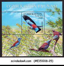 UZBEKISTAN - 2016 EUROPEAN ROLLER / BIRDS - MINIATURE SHEET MNH