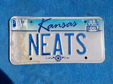 NEATS Kansas PERSONALIZED License VEHICLE Tag Man Cave Reissue