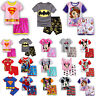 Toddler Kids Baby Boy Girl Pajamas Set Nightwear Sleepwear Top + Shorts Homewear