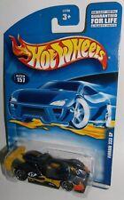 Hot Wheels 2001 Collector #157 Ferrari 333 SP Black Yellow Orange PR5s 53700