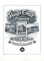Strümpfe und Handschuhe Hugo Ernst in Leipzig XL Reklame 1925 Trikonagen Fabrik