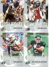 2014 Upper Deck CFL Star Rookies Complete Your Set Pick from the enclosed list