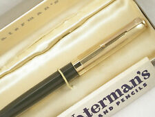 NEAR MINT IN BOX ~ BIG VINTAGE 1940s WATERMAN STATELEIGH FOUNTAIN PEN  ~RESTORED