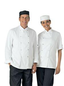Dennys Easycare Performance Chef Jacket DD08 Long / Short Sleeves, Black / White