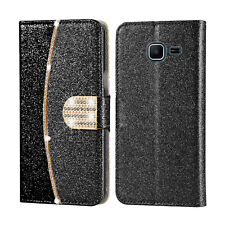 Bling Glitter Leather Flip Wallet Slim Card Case Cover For Samsung Galaxy Phones
