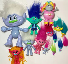 13 Trolls Lot Hasbro Bridget Branch Dj Suki Guy Diamond Glitter Fuzzbert Smidge