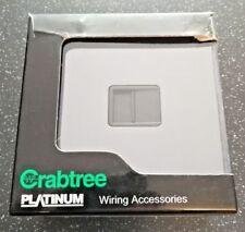 Crabtree Secondary Telephone Socket Black Inter LP069BKB