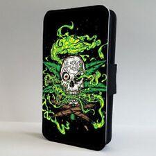 Weed Skull Marijuana FLIP PHONE CASE COVER for IPHONE SAMSUNG