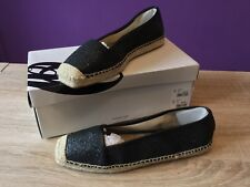 Women's Nine West Big Apple 3  Black Espadrilles. Glitter Effect, UK Size 6.