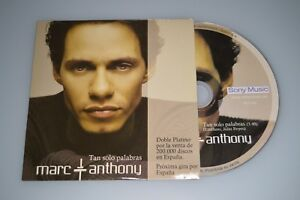 Marc Anthony – Tan Solo Palabras. CD-Promo
