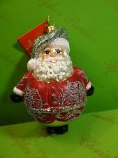 Christopher Radko Winter Scene Ho Ho Red Glass Ornament - red color