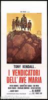 I VENDICATORI DELL'AVE MARIA LOCANDINA CINEMA FILM WESTERN 1971 PLAYBILL POSTER
