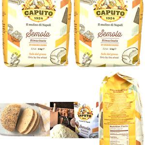 Antimo Caputo Semolina Flour 2.2 LB (Pack of 2) Bulk Italian Durum Semola Flo...