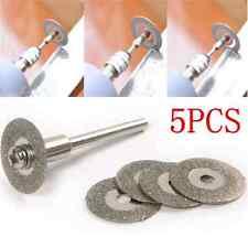 Simple 5PCS 22mm Emery Diamond cutting blades Drill Bit+1 Mandrel New