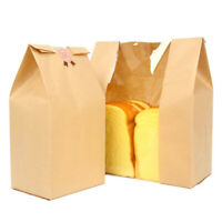 50PCS Kraft Paper Bags Bread Food Cookie Pouch Wrapping Wedding Gifts Package