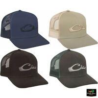 NEW DRAKE WATERFOWL SYSTEMS MESH BACK FLAT BILL BALL CAP - SNAPBACK HAT -