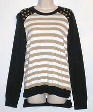 NWT MSRP $120 - MICHAEL KORS Striped Long Sleeve Sweater, New Navy, S  M  L  XL