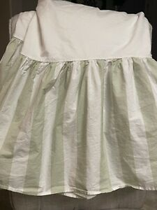 Twin Size  Green Cabana Stripe Bed Skirt  Simply Shabby Chic