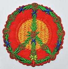 Peace sign hippie boho retro flower power love hippy Iron On patch Applique