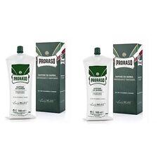 2x Proraso Shaving Soap Cream with Eucalyptus Oil & Menthol 500ml Large Tube