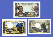 MALI - Lots of 3 notes - 1000...10000 Francs - Reproductions