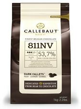 Callebaut Dark Chocolate Chips 1kg 54% cocoa, for baking, fountains, 811NV