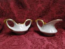Pearl China Co Pea9, Pearlized Lusterware, Gold Trim, Sugar & Creamer Set