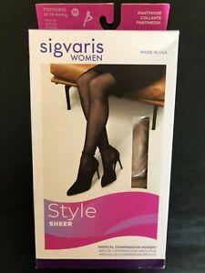 Sigvaris 782PSSW33 20-30 mmHg Eversheer Pantyhose - Natural - Size SS