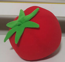 SOFT TOMATO PLUSH TOY APPROX 12CM TALL