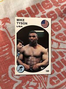 1988 Supersport Panini Italian 160 Mike Tyson Boxing World Champion HOF Card