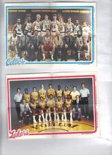 "1980 Topps Basketball team pin-ups Complete set (16) Seldom Seen 5 x 7"""
