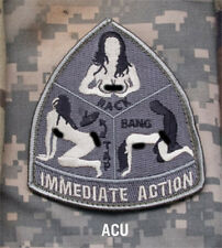 Mil-Spec Monkey IMMEDIATE ACTION morale patch Hook back ACU tap rack bang