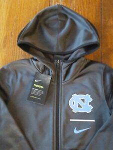 New Boys Medium North Carolina Tarheels Nike Zip-up Therma-Fit Hoodie Sweatshirt