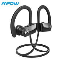 Mpow D7 Bluetooth Headphones,IPX7 Waterproof Bass Stereo Sports Earphones w/Mic