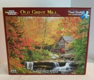Puzzle 1000 piece Old Grist Mill Extra Large Pieces Made in USA Age 12+ 24x30 in