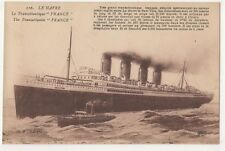 Le Havre, The Transatlic France Shipping Postcard B642