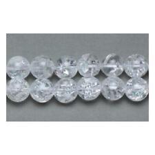 Packet 6 x Clear Rock Crystal Quartz 8mm Plain Round Beads VP1680