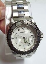 INVICTA Silvertone 1000 Ft DIVER 24 Jewels Watch - Excellent