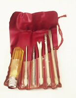 Vtg Oxwall utility screwdriver 6 pc tool set in case interchangeable phillips