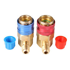 Top Quality R134a A/C Manifold Gauge Conversion Kit High / Low Coupler Adapter